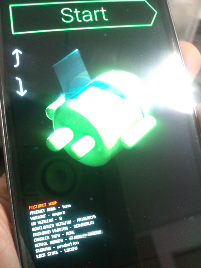 Android4のBootLoaderはまたちょっと違うのね